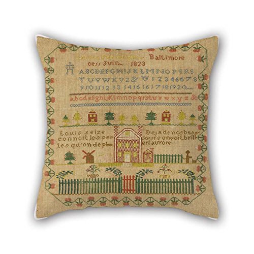 Oil Painting Louisa Nenninger - Sampler Cushion Covers 16 X 16 inches / 40 by 40 cm Gift Or Decor for Bedroom Her Home Theater Floor Divan Birthday - Twin Sides