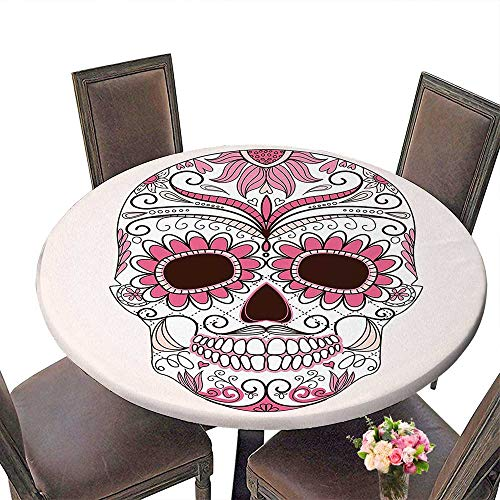 Round Table Cloth for Foot Table in Washable Polyester(Elastic Edge) suitable for all occasions, (153