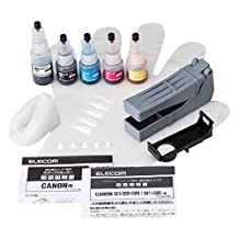 ELECOM Refill Ink kit Set for Canon BCI-320/321/325/326 5 Colors 1 time refillable with a chip Resetter THC-326321RSET1 (Japan Import)
