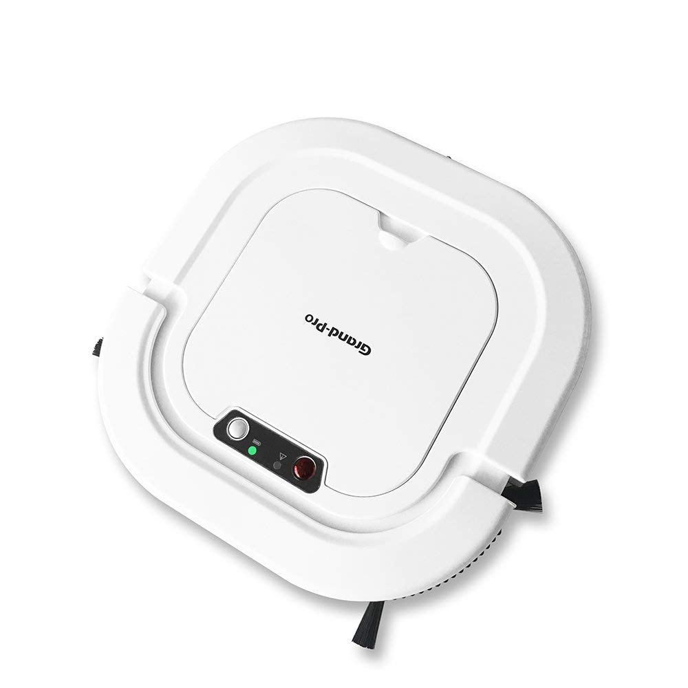 Grand-Pro A1 Robot Vacuum for Pet Hair Robotic Floor mop Self-Charging Good for Hardwood Floor Tile Floor Robotic Vacuums Works in 110V and 220V