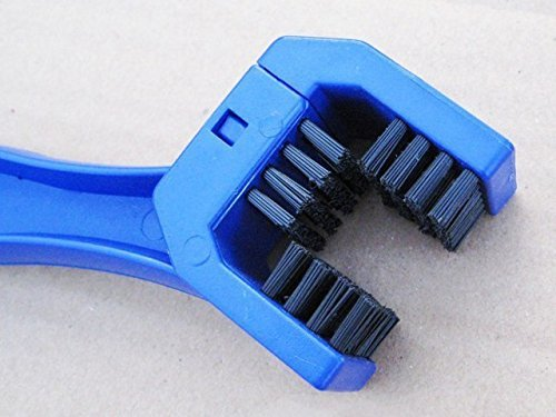 Vonraech Motorcycle Chain Cleaning Brush Blue