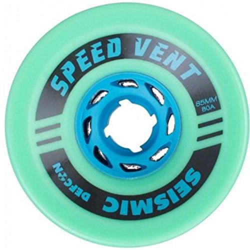 Seismic Longboard - Seismic Speed Vent Longboard Wheels for Cruising, Downhill, Electric Skateboard [All Sizes & Colors] (85mm | 80a - DefCon Formula - Mint)
