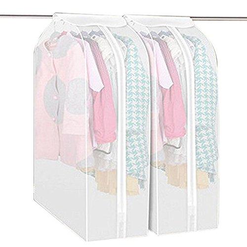 Vivona 3D Garment Suit Coat Dustproof Cover Protector Wardrobe Storage Bag Breathable Semitransparent Hanging - (Size: S)