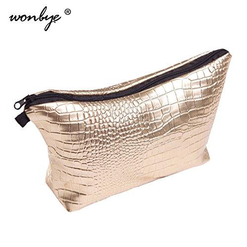 wonbye Golden Cosmetic Bag, Cosmetic Toiletry Bag, Waterproof Cosmetic Bag, Tools - $5 Sunglasses Designer