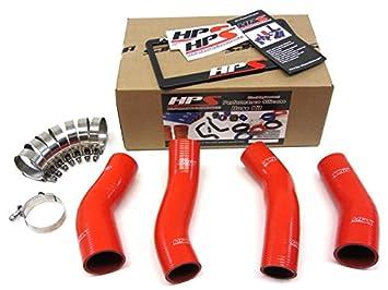 Nissan 90 – 96 300ZX Twin Turbo HPS rojo silicona reforzada manguera de Intercooler Kit
