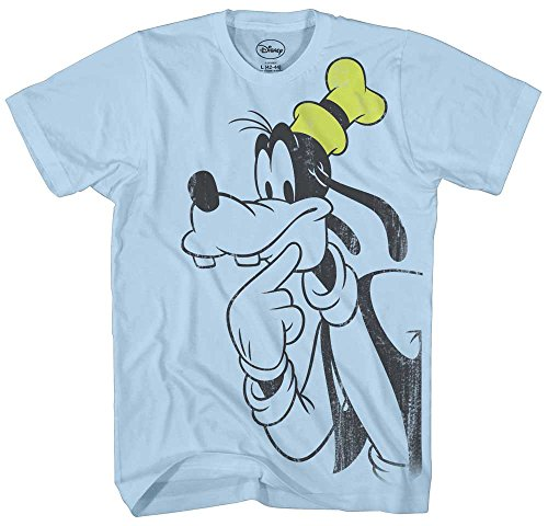 g Vintage Classic Funny Mickey & Gang Humor Adult Mens Graphic Tee T-Shirt (Large, Light Blue) ()