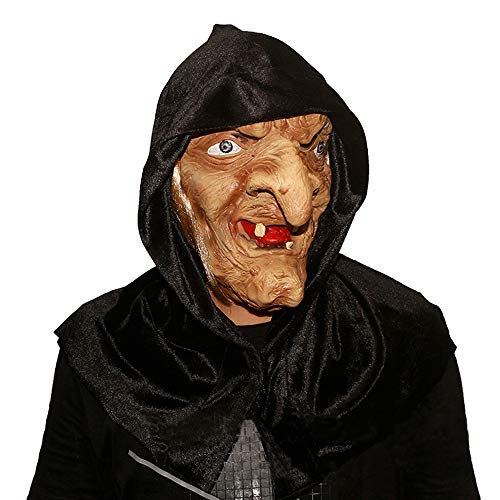 Novelty Halloween Costume Party Prom Old Witch Mask