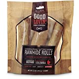 Good Lovin'' Chicken and Peanut Butter Flavored Rawhide Roll Dog Chews, 13.2 oz.