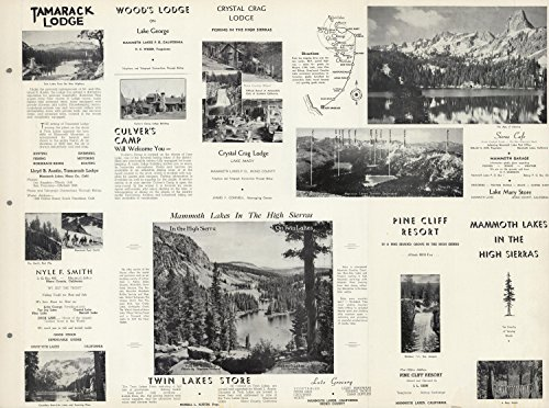 Sierra High Mammoth (Map Poster - View: Mammoth Lakes in the High Sierras. - 24