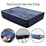 xbox 360 old console - Xbox One X Dust Cover Case with 8pcs Games Slot Pocket Hikfly Multifunction Dust Guard Splash-proof with Soft Lining for Microsoft Xbox One X Console(2017 4K Edition)(Blue)