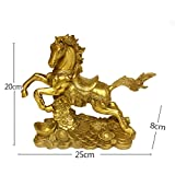 Brass Money Running Horse Statues Chinese Handmade Figurines Home Decor Collectible Gift BS041