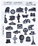 Stampers Anonymous Tim Holtz Cling Rubber Stamp Set, 7 by 8.5-Inch, Tiny Things