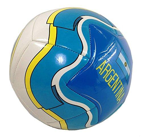 Soccer Ball Size 5 - U.S.A, Barcelona, El Salvador, Spain, Mexico, Italy, Brasil, Polska, Guatemala, Madrid, Argentina (Argentina Blue)