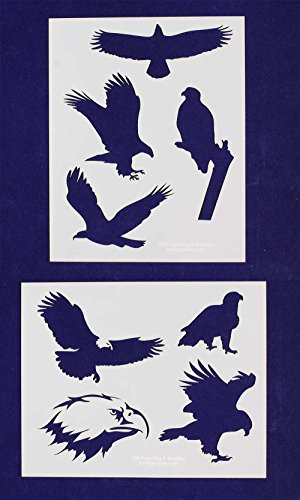 (American Bald Eagle Stencils - 2 Piece Set - 8 X 10 Inches)
