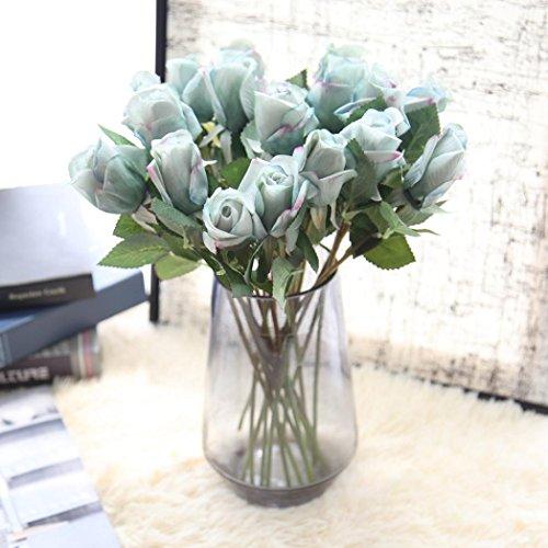 YJYdada 6 Pcs Pretty DIY Artificial Silk Fake Flowers Rose Floral Wedding Home Decor (Pretty Pink Orchid)