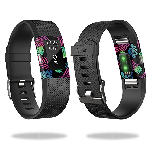 mightyskins-protective-vinyl-skin-decal-for-fitbit-charge-2-wrap-cover-sticker-skins-neon-tropics