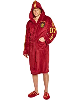 Quidditch Harry Potter Mens Burgandy Fleece Robe with Hood 5a5021b1a