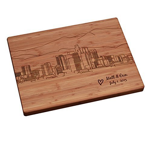 Personalized Cutting Board - Los Angeles Skyline