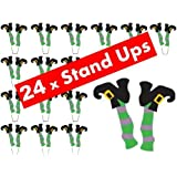 24 x Halloween Witch Legs STAND UP STANDUPS Fairy Muffin Cup Cake Toppers Decoration Edible Rice Wafer Paper