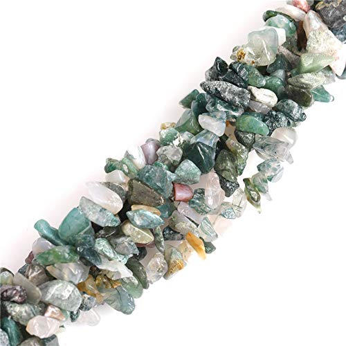 6-8mm Natural Indian Agate Beads Gravel Gemstone Chips Beads for Jewelry Making Wholesale 34