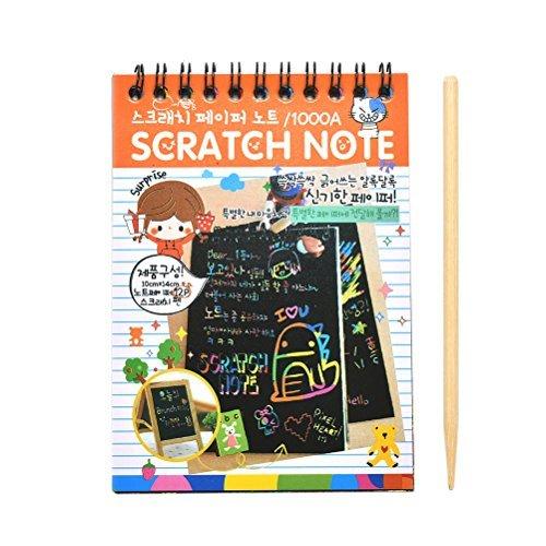 SevenMye 1 Pcs Magical Scratch Note Book Cartoon DIY Scratch Graffiti Drawing 1410cm