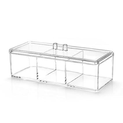 ZREAL Caja de almacenamiento de cosmética plástica Caja de ...