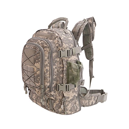 Acu Military Gear - 40L Outdoor Expandable Tactical Backpack Military Sport Camping Hiking Trekking Bag (ACU 08001A) by ARMYCAMOUSA