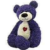"First & Main Tender Teddy Purple Teddy Bear Plush in Sitting Position 8"""