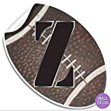"Wall Decals Letter "" Z "" Football Baby Name Decal"