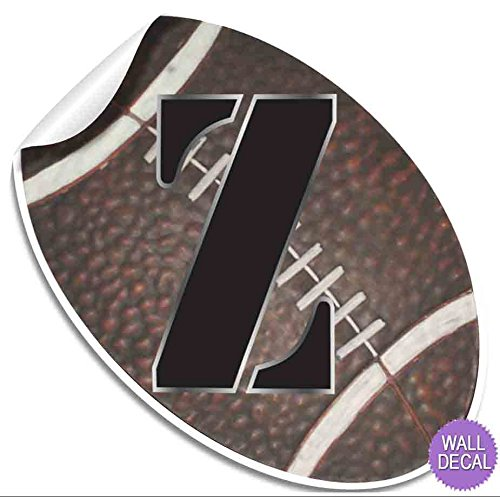 Wall Letters Football Custom Letter Children's Nursery Baby's Room Baby Name Boys Bedroom Decor Alphabet Initial Vinyl Stickers Decals Kids Decorations Playroom Home Decal Ball Sport Girls