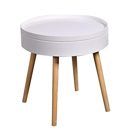 Bedside Round Table.Amazon Com Small Round Coffee Table Living Room Round Table Bedroom