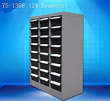 YOUTER 24 Anti Static Drawers Spare Parts Storage Cabinet Plastic Drawer  Cabinet Tool Metal Cabinet