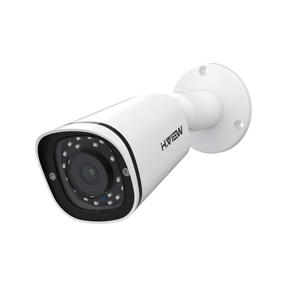 H.VIEW Security IP Camera 4.0mp POE Camera with 2.8mm Lens & 110° Coverage Super HD Infrared Indoor/Outdoor Camera with Audio, H.265+, Onvif, P2P, Motion Detection, IP 67 Waterproof