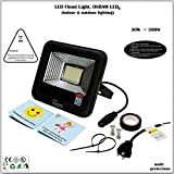 Cheap 30W LED Flood Light, Work Light, Wall Light, Osram LED, 110lm/W 3273lm, 4500K, Meanwell Power, IP66, UL, 5-Year Warranty, US Plug, Indoor, Outdoor, Garden,Lawn, Yard, Garage,Camp, Parking Lot Lighting