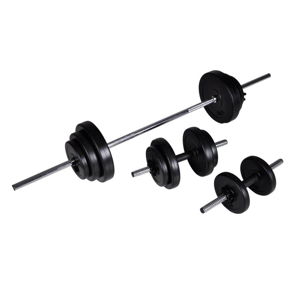 Festnight 60,5kg Hantel Set Langhantel Kurzhantel Hanteln Hantelset mit 16 Gewichtscheiben
