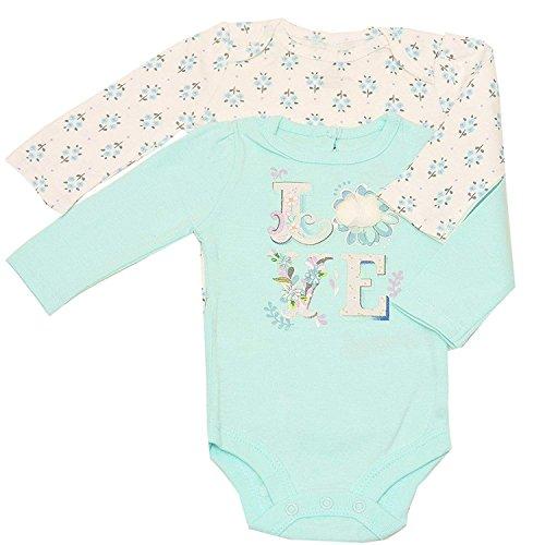 - Baby Girls Aqua White