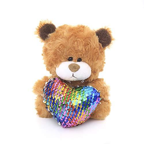 Plushland Qbeba Teddy Bear Stuffed Animal 6 Inches Cute Love, Valentine