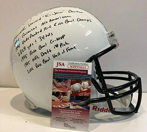 Ki-Jana Carter Autographed Signed Inscribed Penn State Full Size Helmet Memorabilia JSA