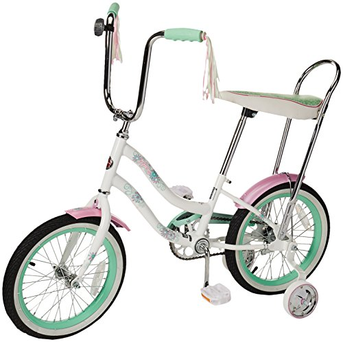 Schwinn Girl's Jasmine 16-Inch Bicycle, White Banana Seat Bike