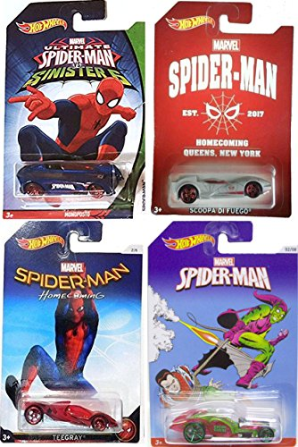 Hot Wheels Exclusive Marvel Cars Spider-Man Green Goblin ICandy / Sinister 6 Monoposto / Homecoming 2017 Chase Car Scoopa Di Fuego Queens, NY + Teegray in PROTECTIVE - In Queens Ny Stores