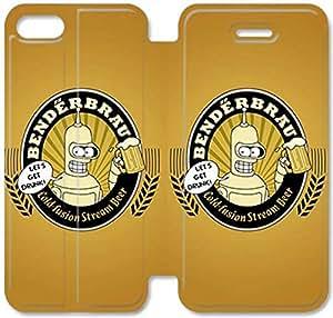 Gemma Ehritz® Only Authorized Official Brand Boutique Shop,PU bolsa de cuero del caso del tirón de la cubierta con el soporte para Funda iPhone del modelo 4S Funda con V812BNY Futuramas Beber cerveza E210DEA para las muchachas adolescentes y los hombres