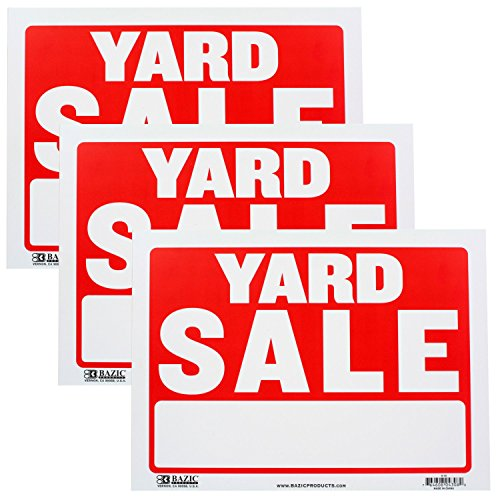 Bazic Small 9 x 12 Inches Yard Sale