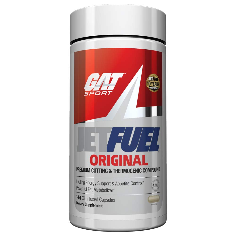 GAT – JetFuel Original – Weight Loss Supplement, Energy Booster, Fat Burner, Appetite Suppressant 144 Capsules