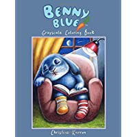 Benny Blue Grayscale Coloring Book