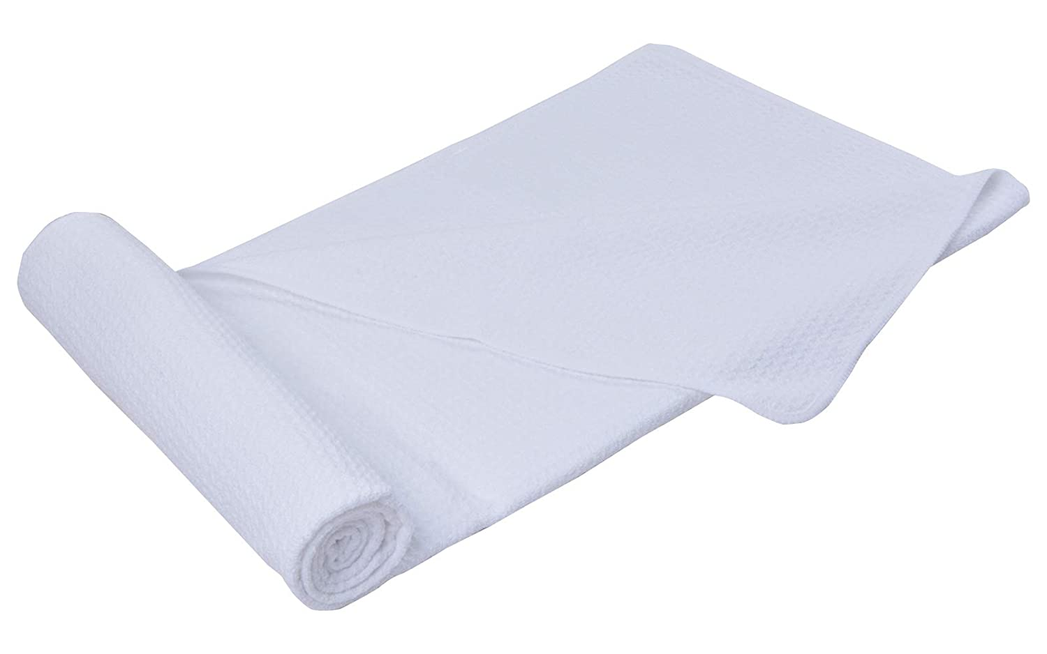 Sinland Microfiber Towel Waffle Weave Design Ultra Absorbent and Soft Hair Drying Towel Bath Towel 20Inchx40Inch White