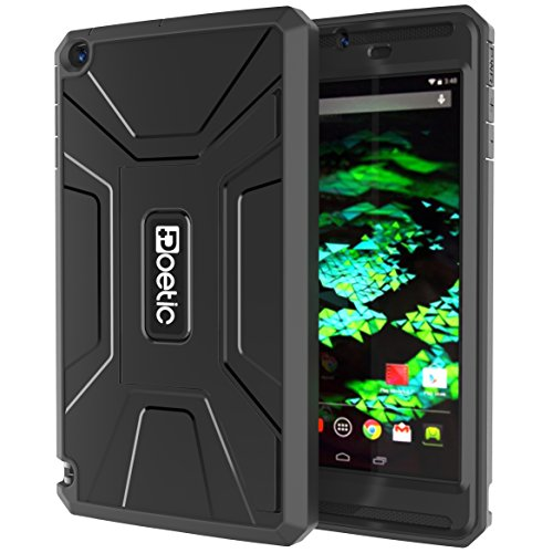 Radical Shield - NVIDIA SHIELD Tablet K1 / NVIDIA SHIELD Tablet Case - Poetic [REVOLUTION Series] NVIDIA SHIELD Tablet 8.0-inch Case - Rugged Hybrid Case with Built-in Screen Protector for NVIDIA SHIELD Tablet K-1 (2015) / NVIDIA SHIELD Tablet (2014) Black (3-Year Manufacturer Warranty from Poetic)