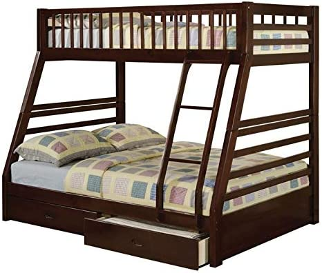 Rosebery Kids Twin Over Full Storage Bunk Bed