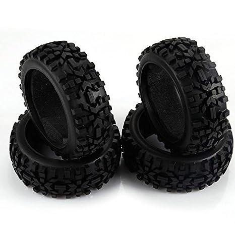 yiguo 4pcs RC 1/8 Escala RC Coche Fuera de la carretera Buggy Neumáticos Racing rueda de goma (42 mm de ancho para HSP HPI: Amazon.es: Juguetes y juegos