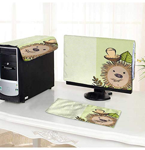 PRUNUS dust Cover for Computer 3 Pieces Cartoon Hedgehog with Mushroom Suit Computer dust Cover /29