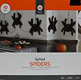 Target Decor Halloween Prop 10 Purple LED Lighted Eyes Spiders Decoration